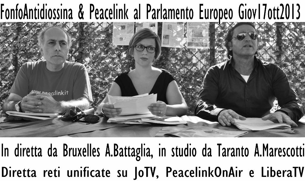 TARANTO CHIAMA BRUXELLES : OGGI alle 21  IN DIRETTA – Peacelink Fondo Antidiossina su LiberaTv
