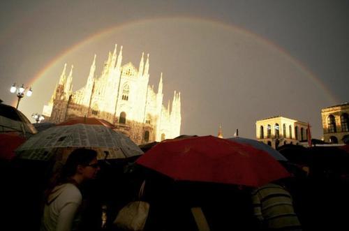 arcobaleno al concerto per Pisapia