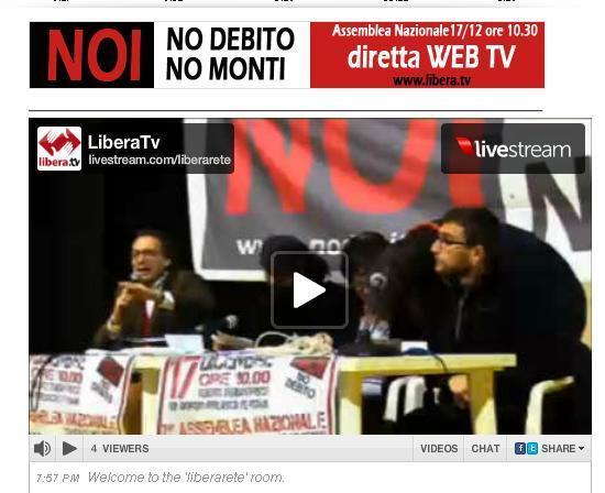 Successo della diretta WebTv – NO DEBITO
