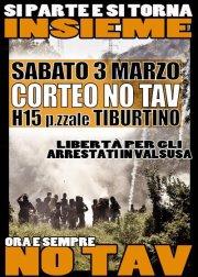 Roma Sabato 3 marzo, ore 15:00, corteo NO TAV