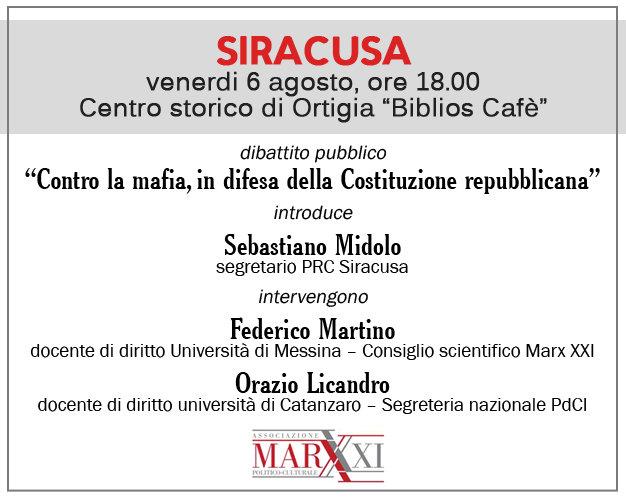Seby Midolo Marx XXI Siracusa