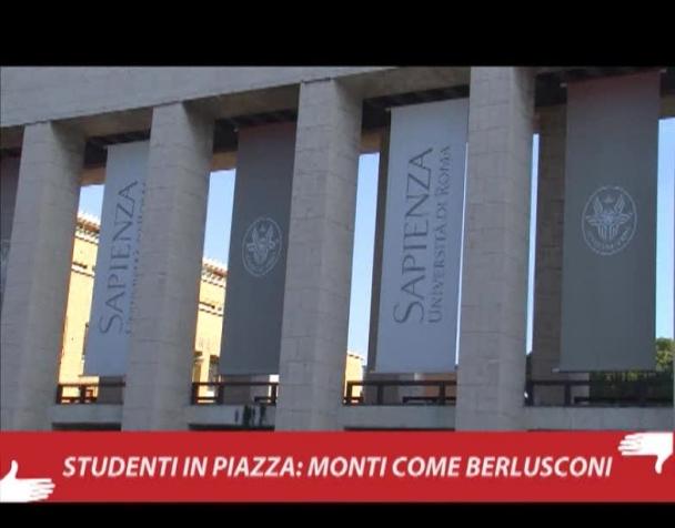 studenti-in-piazza-monti-come-berlusconi