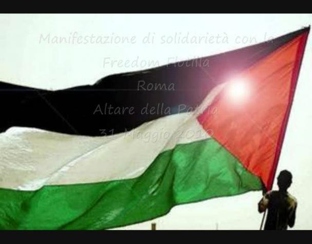 attacco-alla-freedom-flotilla-roma-protesta
