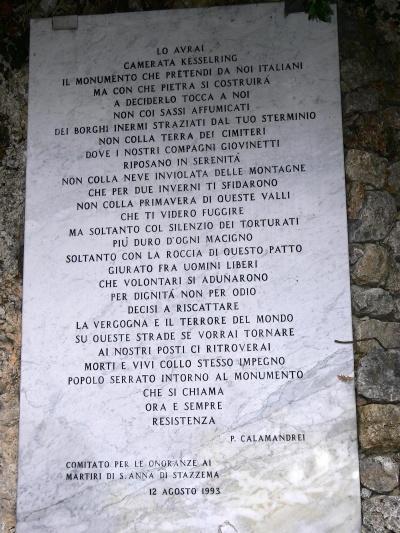 S. Anna di Stazzema:L'impunità li rende liberi.