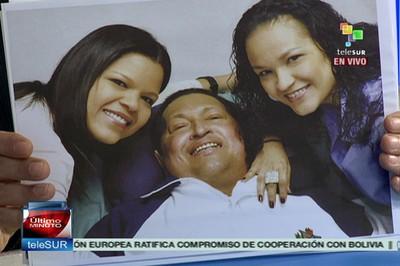 Prime immagini del Presidente Chavez nel suo processo di recupero
