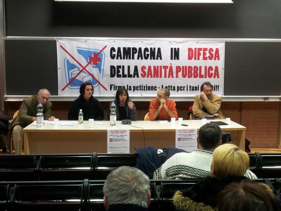 Difendiamo la Sanita' pubblica. Assemblea a Pisa
