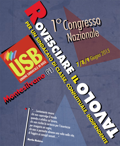 'ROVESCIARE IL TAVOLO!' Documento congressuale USB