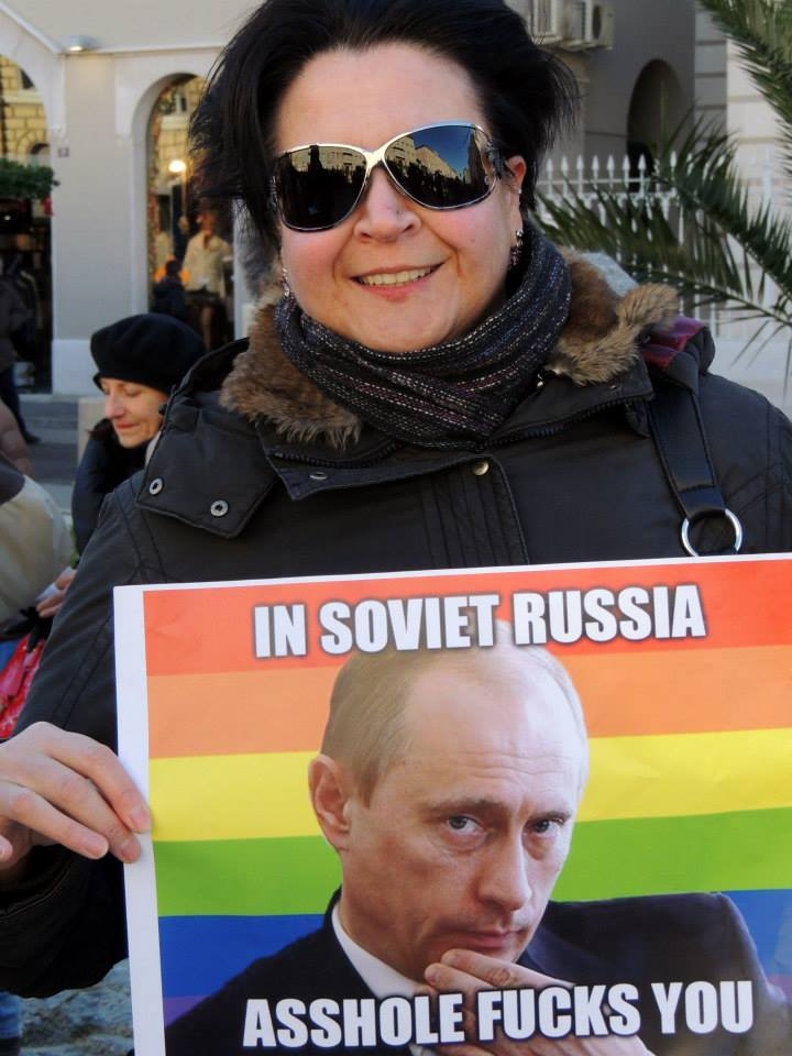 OMOFOBIA : Putin contestato a Trieste