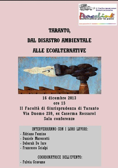 DIRETTA WEBTV DI PEACELINK : Taranto, le ecoalternative