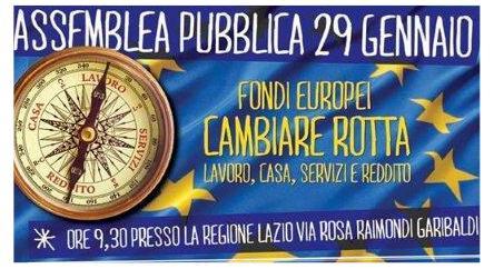 Fondi europei: il 29 gennaio assemblea pubblica alla Regione Lazio