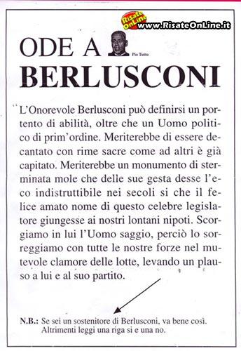 Ode a Berlusconi