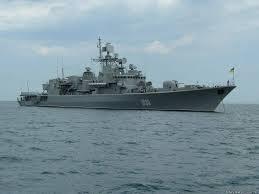 Ammiraglia della marina militare ucraina ha issato bandiera russa
