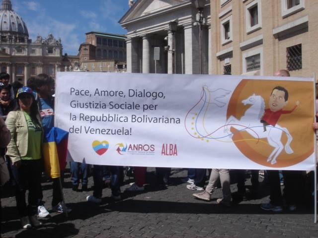 Solidarietà alla Rivoluzione Bolivariana a San Pietro
