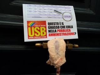 ROMA: FLASH MOB USB P.I. AL MINISTERO DELLA P.A.