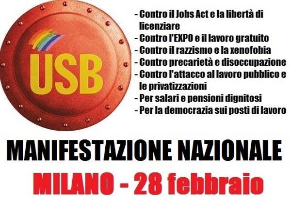 Il 28 febbraio a Milano contro i ladri di diritti