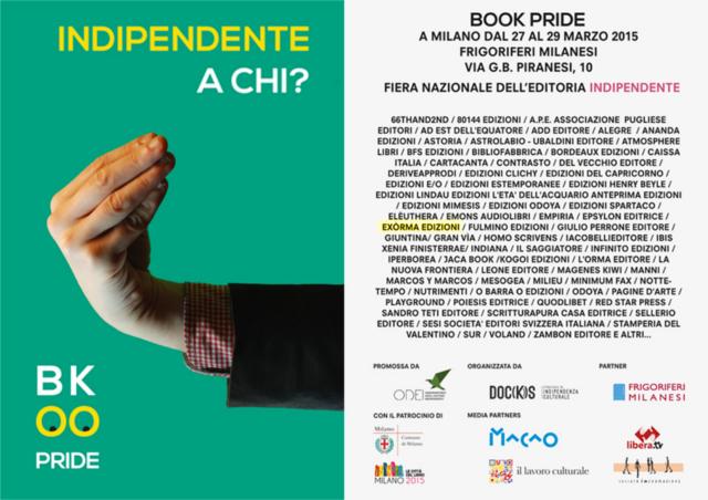 LIBERA.TV al BOOK PRIDE : Appuntamento il 29 alle 10.00