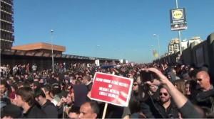 Corteo contro la Lega Nord