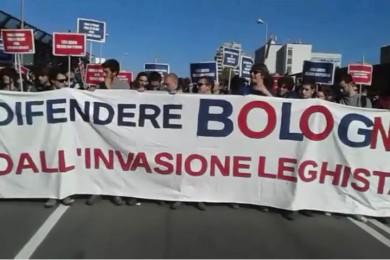Corteo contro la Lega a Bologna