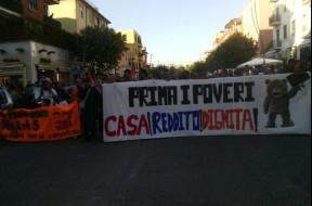 Corteo per la Casa a Roma