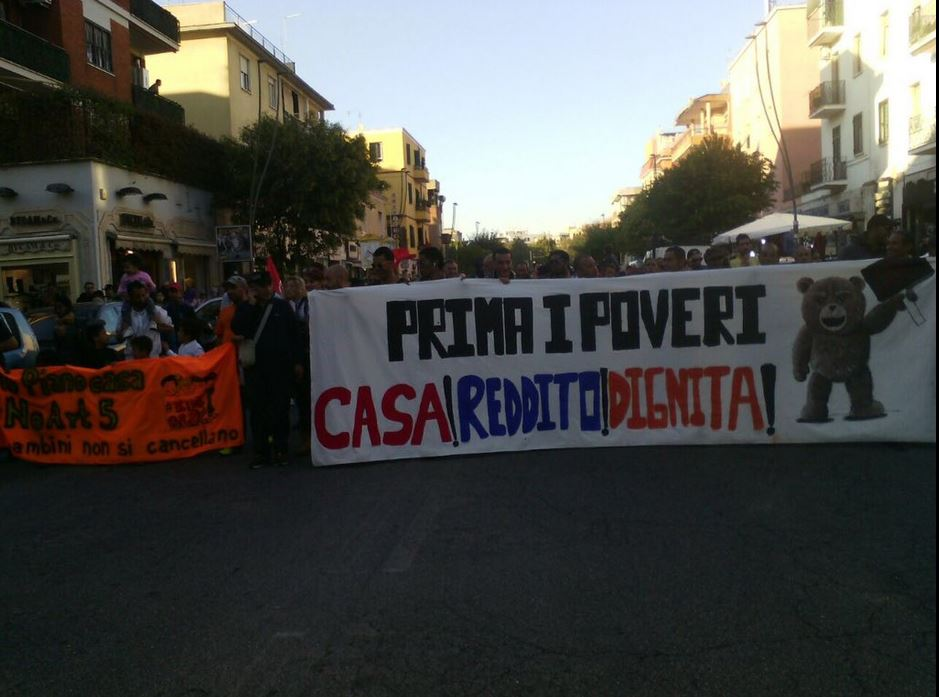 GUIBILEO : No alla guerra dei poveri – Manifestazione a Roma