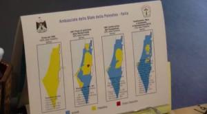 Mappa dell'occupazione della Palestina