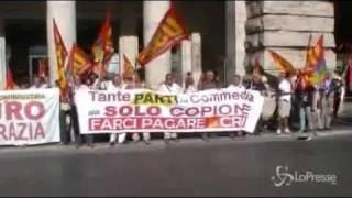 roma-10-agosto-2011-palazzo-chigi-dellinciucio-usb-protesta-lunita