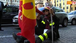 vigili-del-fuoco-protestano-al-viminale-usb-tv