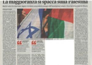 Articolo su Trieste Israele Palestina