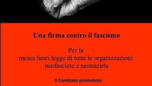 Petizione contro il fascismo