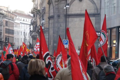 Corteo contro la guerra a Milano