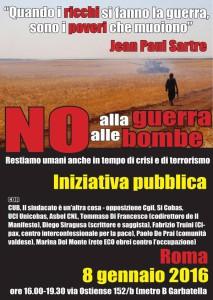 No alla guerra no alle bombe - Iniziativa a ROma