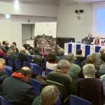 Sala del convegno convivere con Auschwitz