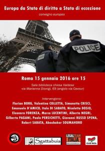 Europa : dallo stato di diritto allo stato di eccezione
