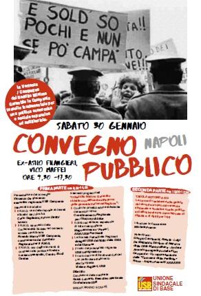 """Report del Convegno """"Reddito Minimo Garantito e politica economica antiliberista"""" di Napoli"""