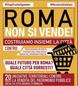 Roma non si vende banner