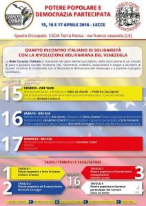 Caracas Chiama - Incontro a Lecce