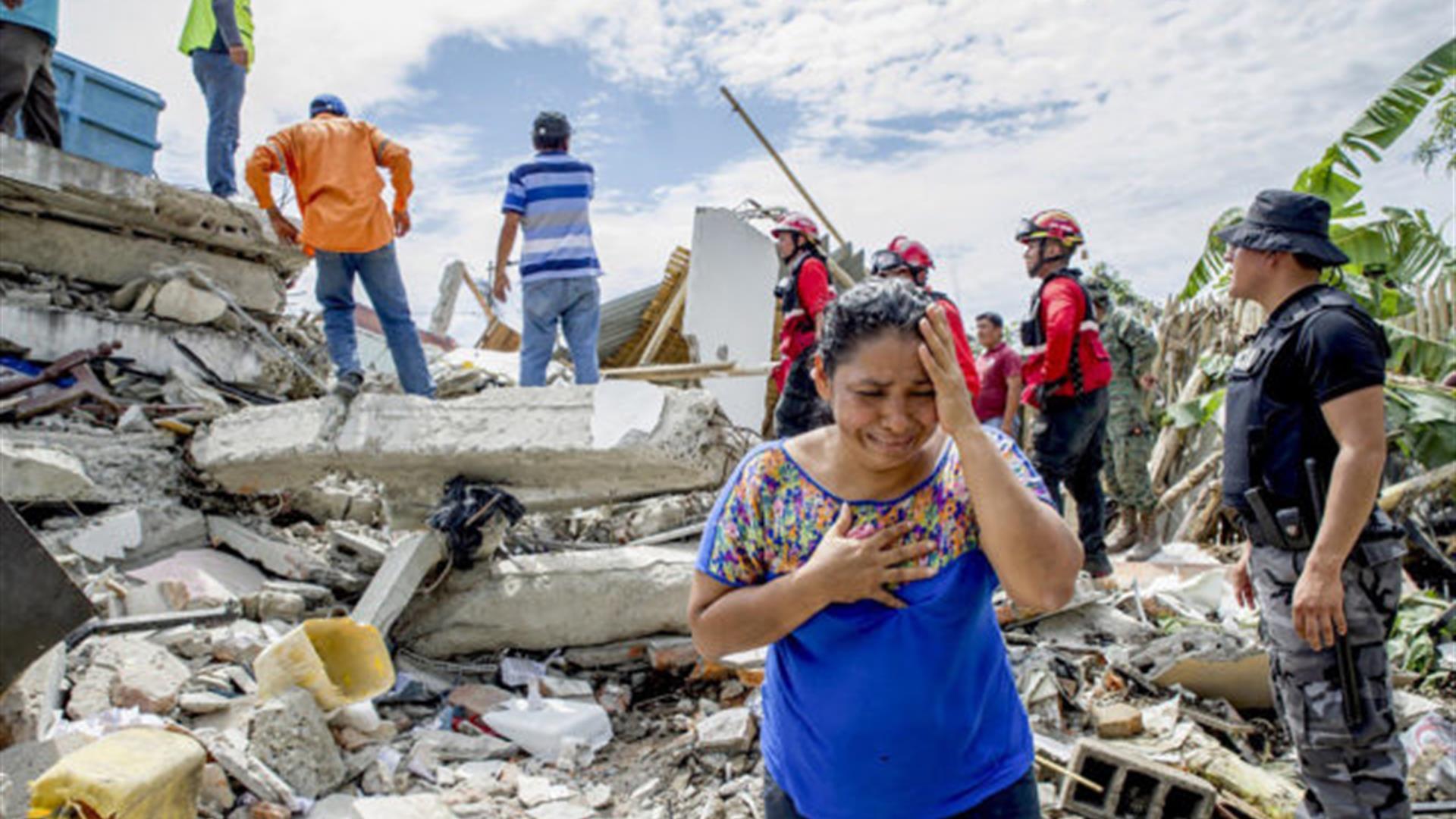 TERREMOTO ECUADOR : Parte la raccolta internazionale di fondi