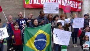 No al golpe in Brasile
