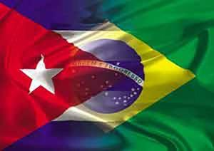 Bandiere Cuba Brasile