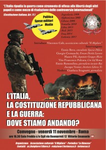 locandina guerra e costituzione