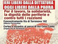 Sabato 17 giugno presidio e corteo a Torre Angela per il 73° anniversario dalla liberazioni di Roma dalla occupazione nazifascista