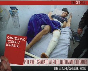 Cartellino rosso ad Israele 2