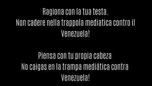 Campagna contro la disinformazione sul Venezuela