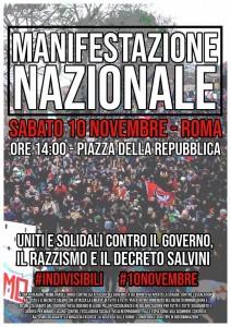 manifesto manifestazione antirazzista