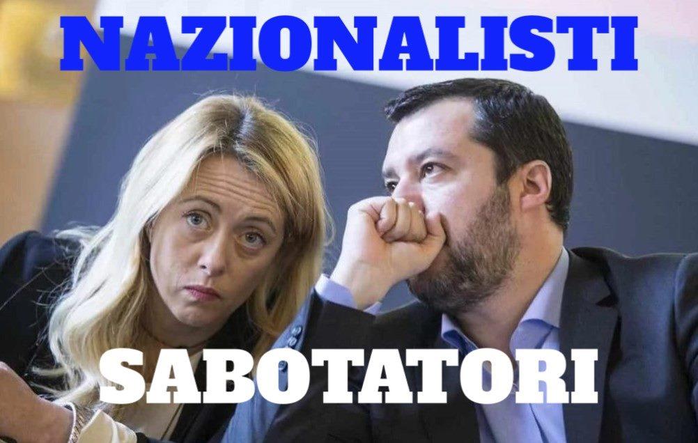 EUROPA : I Nazionalisti sono i Sabotatori d'Italia