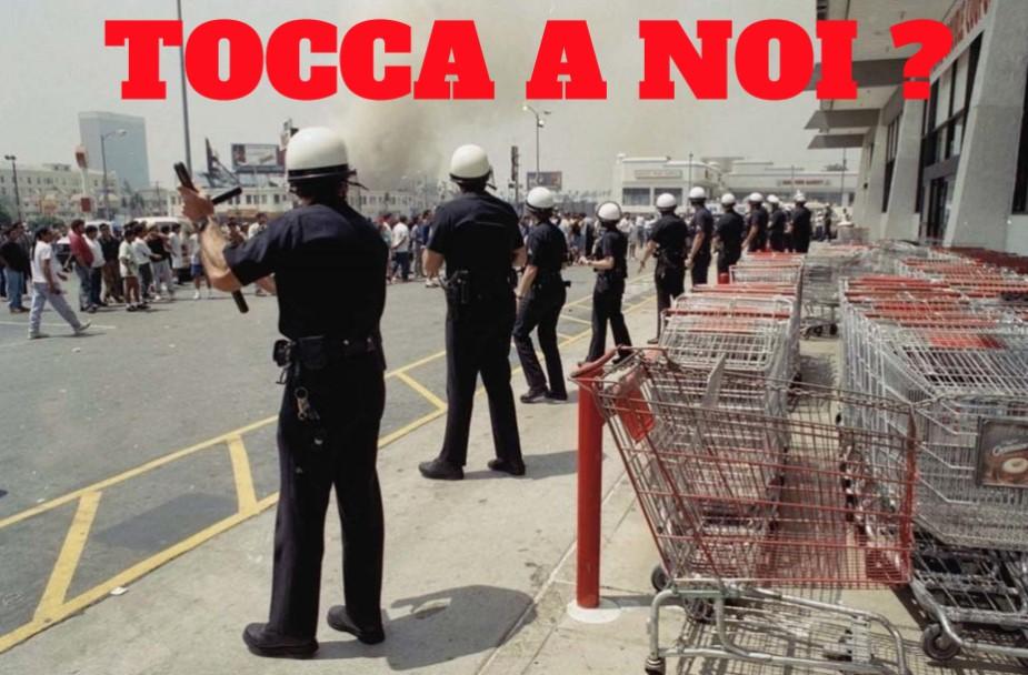 CORONAVIRUS : tensione ai supermercati. Prime prove di saccheggio